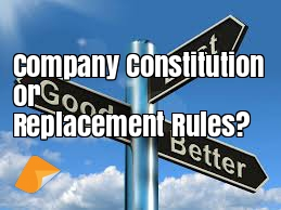 Company Constitution or Replacement Rules