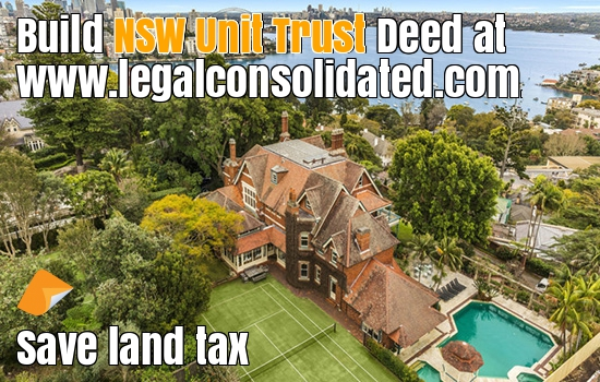 nsw unit trust nsw unit trusts fixed nsw unit trust NSW land tax New South Wales Unit Trust New South Wales land tax for unit trusts