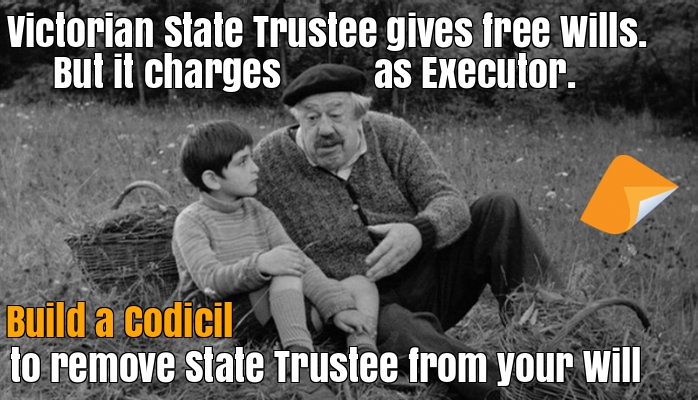 Remove Victorian State Trustee as executor in your Will