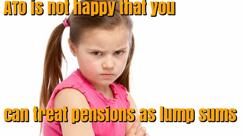 Treat pension as lump sum