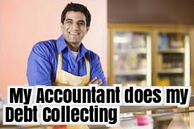Accountant does debt collecting