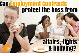 employment contract bullying in the workplace fighting and affairs