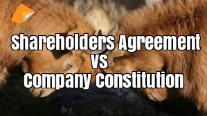 shareholders agreement vs company constitution