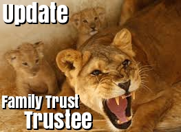 Update Family Trust Trustee Update Trustee Family Trust change trustee appoint corporate trustee to Discretionary Trust