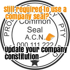remove common seal by updating company constitution Replace a Company Constitution update old company memo & articles of association